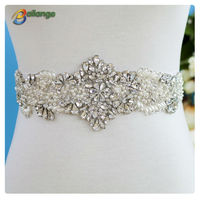 Garment accessories bailange bridal dress fashion wholesale pearl rhinestone bridal sashes belt