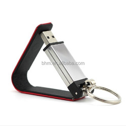 Leathery Low Price Rectangle Flash Pen Drive with miltiful color
