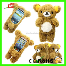 E493 3D Cute Doll Cool Teddy Bear Plush Toy Case for Iphone
