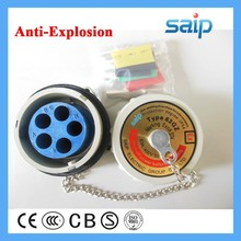 200amp current explosion proof plug and socket 3 phase 4poles