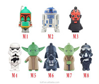 Usb flash drive 64g star wars pen drive 32g pendrive 16g Darth Vader 8g 4g Maul Bounty Hunter Usb2.0 memory stick drive