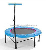 2015 hot sale mini Fitness Trampoline with handle bar
