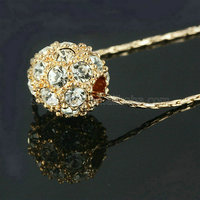 Hot selling 18K Gold Plated hidden camera necklace