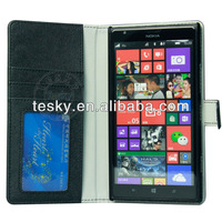 (In Stock) For Nokia Lumia 1520 Cell Phone PU Leather Folio Case Flip Cover Skin