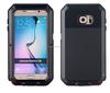 Genuine Lovemei Metal Aluminum + Gorilla glass Shock Dust water Proof Cover Case For Samsung Galaxy S6