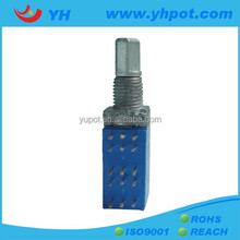 YH jiangsu 9mm rotary volume control 10k linear potentiometer with wash and nut