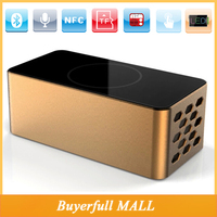 High Quality Tumbler desktop sound blaster Surround sound Bluetooth NFC Speaker Portable With Touch Buttons FM Radio LED