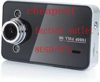 "FULL HD 1080P K6000 Car DVR Video Camera Recorder G-sensor HDMI Motion 2.7"" TFT"