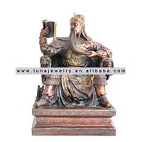 Brass Material Chinese Kwan Kong statue red the book, ,fengshui Kuan Kong ,Guan Gong