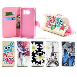beautiful unique design leather phone case for samsung galaxy S6