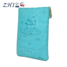 Promotional kids waterproof pu leather cute cartoon print flip cover case for tablet pc notebook