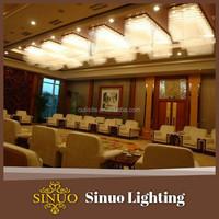 Semi ceiling crystal lights silver star lighting
