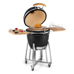 Auplex 21 inch outdoor clay oven smoker kamago barbeque bbq grill pork rib