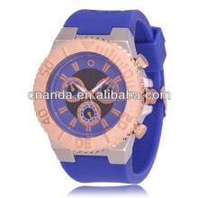 Silicon straps colorful factory price selling ion watch sport