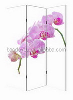 butterfly orchid design wooden sliding wall dividers