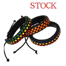 Braided leather bracelet wholesale bangle bracelet jewelry wedding making supplies