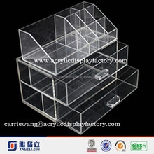 China supplier acrylic combined hot sale mac makeup organizer with handle