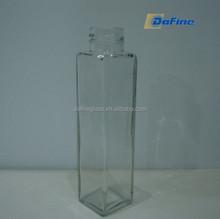 320ml french fresh square glass beverage bottle for fresh juice