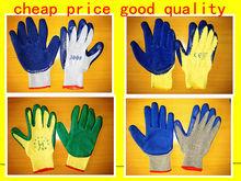 latex coated work gloves 7G,10G,13G,15G knitting glove