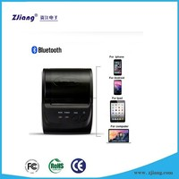 Small size bluetooth wireless pos printer 58mm black color