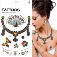 Hot New Products For 2015 Jewelry 3D Flush Temporary Tattoo Stencils