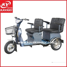 Double seat passenger family electric tricycle for adults