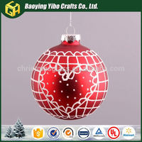 Good quality round glass ball chandelier christmas candle