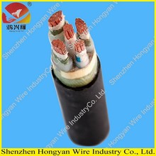 0.6/1kv PVC jacket XLPE insulated armored 3+2 core copper power cable