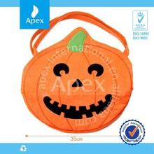 Halloween Pumpkin Large Tote Bags