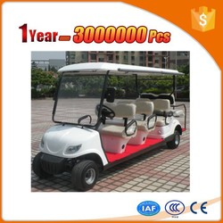 colorful 8 seater pure electric golf car with roof