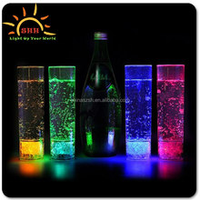 2015 new products wedding decoration party supplies plastic highball glass light up, led flashing highball glass china wholesale