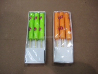 Colored Stick Candles outdoor candle with citronella