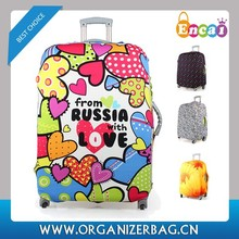 Encai Fashion Travel Luggage Protector Printing Style Cover For Luggage Case