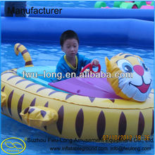 Exclusive Manufacturer Fwulong Kids Inflatable Remote Control Bumper Boat with Lovely Cartoon Tube