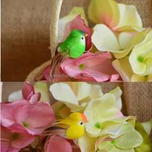 Handmade fake styrofoam birds decoration materials