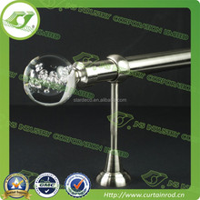 A0115 19mm round ball glass finial curtain rod for window decoration