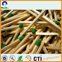 brand customized green colored head wooden matches in bulk