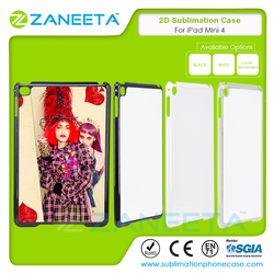 Hot selling 2D PC blank printable sublimation phone case for iPad Mini 4