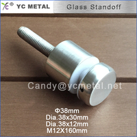 38 MM Diameter 304 Stainless Steel Stain Glass Standoff Pins