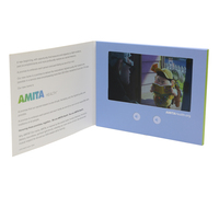 paper jewelry advertising video card