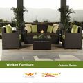 sofá al aire libre caliente venta de la rota del pe y marco de aluminio muebles de jardín