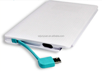 Fashion credit card power bank 5000mah for mobile phone