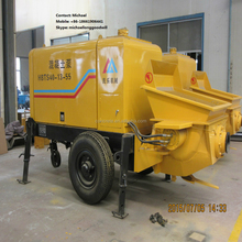 trailer pump convey concrete, pumpcrete factory supplier with reasonable price