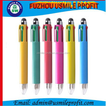Stylus Touch Screen Pen With Four color hand writing pen For iPhone iPod iPad