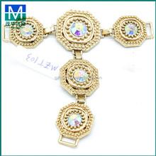 Wholesale cheap jeweled shoe clips,handmade crystal stone shoe ornaments clips