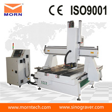 low cost 3d woodworking HIWIN guide rail 4 axis CNC router machine
