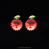 exclusive custom earpins High-grade fair maiden temperament pale peach satellite earrings wholesale in China