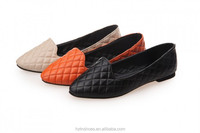 2015 New Sprint Flat Women Pointed Shoes Flat comfortable Casual Work Shoes Plaid Check Ballet Shoes