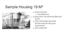 sample house Emergency shelter