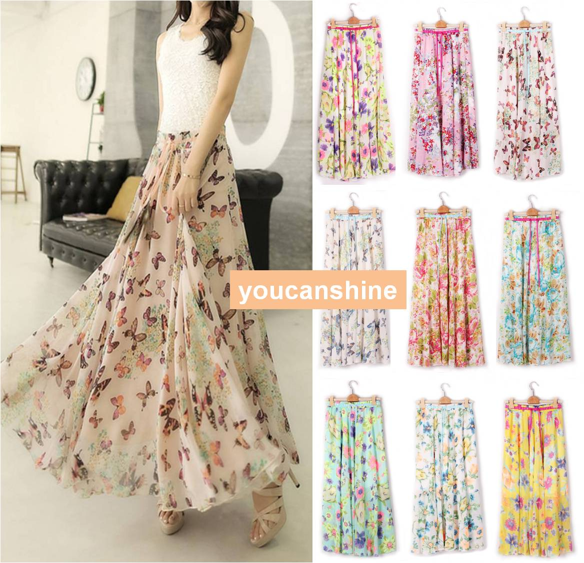 Floral Print Long Skirts Online | Jill Dress